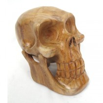 Wooden Skull 20cm