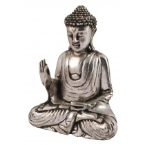 Wooden Buddha Hand Up - Antique Silver Finish