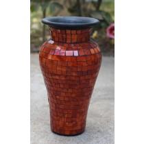 Orange Terracotta & Glass Vase - 80cm