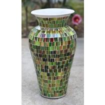Green & Brown Terracotta & Glass Vase - 100cm