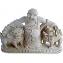 Happy Buddha Stone Carving - 50cm