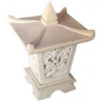 Garden Lamp Stone Carving - 50cm