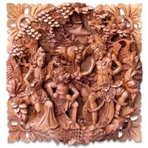 Wooden Wall Hanging - Suar Wood - 50cm