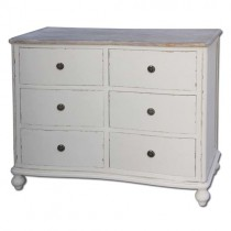 French Country 6 Drawer Chest Of Drawers