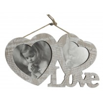 Journal Love Double Photo Frame
