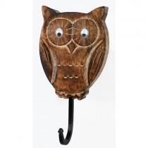 Mango Wood Ollie Owl Design Hook
