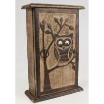 Mango Wood Ollie Owl Design Key Box