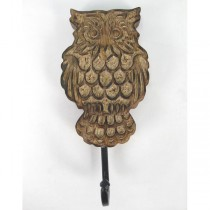 Mango Wood Owl Design Hook