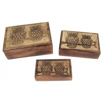 Set Of 3 Wise Owl Boxes