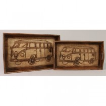 Set Of 2 Van Design Trays