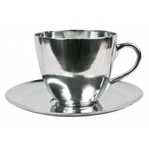 Aluminium Cup & Saucer Bowl Decoration