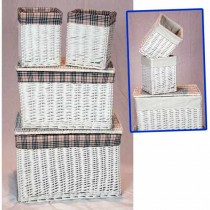 Set Of 4 Linen Baskets