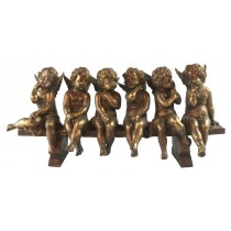 6 Cherubs On Bench