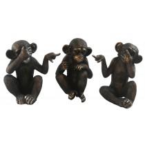 Set of 3 Monkeys 16cm