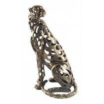 Hollow Sitting Leopard - 43cm