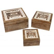 Set of 3 - 4x4 Boxes