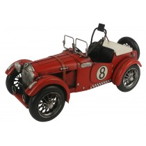 Red Racing Car with Hood Strap