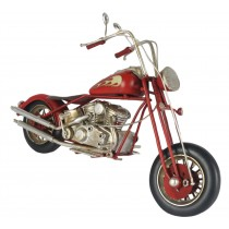 Red Motorcycle Chopper - 28cm