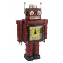 Red Robot Clock  - 27cm
