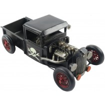 Black Hot Rod Truck - 33cm