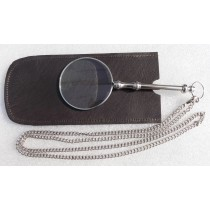 Magnifier with Chain Nickel Finish