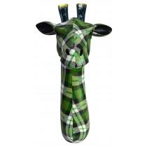 Giraffe Head (Green Tartan)