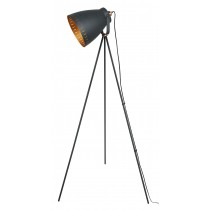 Film Set Tripod Lamp Matt Black-Copper Effect 147cm (Bulbs not included)