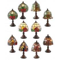 SET/10 MINI LAMPS ASSORTED 22cm High