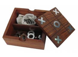 Tic Tac Toe with Nickel Inlay