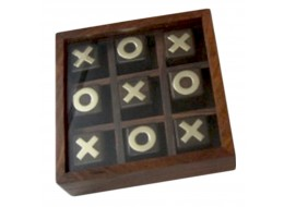 Tic Tac Toe In Glass Lid Box