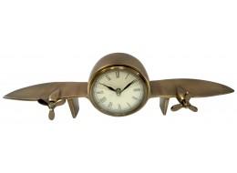 Aeroplane Design Table Clock Antique Brass Finish