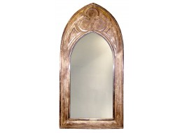 Mango Wood Gothic Mirror (Small)