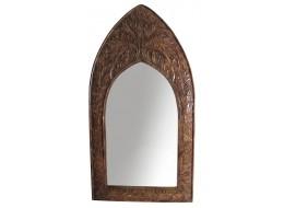 Mango Wood Gothic Mirror Leaf Design - Large
