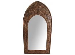 Mango Wood Gothic Mirror Leaf Design - Small