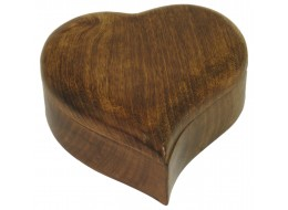 Mango Wood Heart Shaped Box