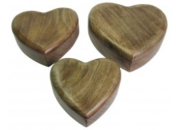 Plain Heart Shaped Boxes Set Of 3