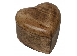 Mango Wood Heart Trinket Box - Small *Batches of 6*