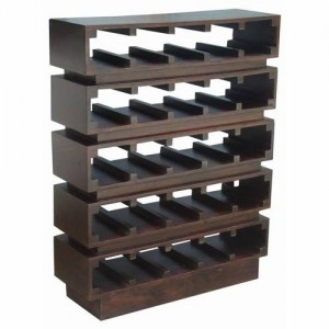 Acacia 30 Bottle Rack (Dark Stain)