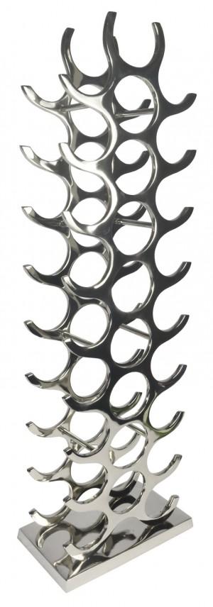 27 Bottle Wine Holder - Aluminium / Nickel Finish