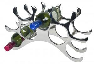9 Bottle Wine Holder - Aluminium / Nickel Finish