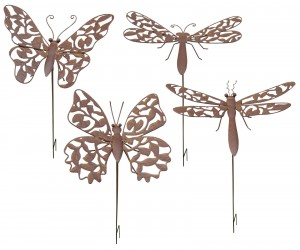 Rust Finish Dragonfly / Butterfly Stake (Min 12)