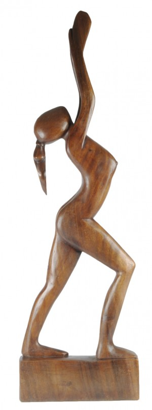 Wooden Lady Arms Up - 100cm