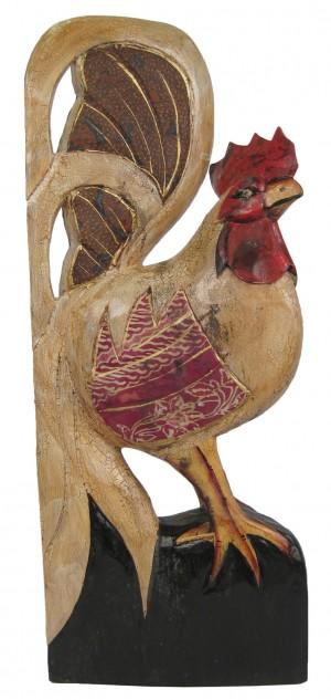 Wooden Chicken with Batik Design