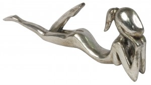 Wooden Abstract Relax - Antique Silver Finish