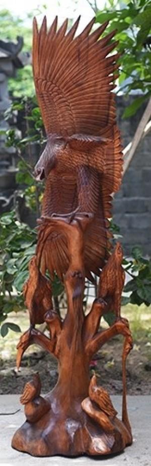 Wooden Eagle - Suar Wood - 150cm