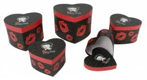 Set Of 5 Betty Boop Heart Boxes