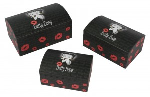 Set Of 3 Betty Boop Chest Boxes