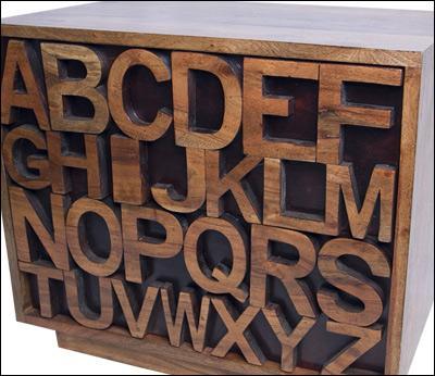 Acacia Alphabet/Word Furniture