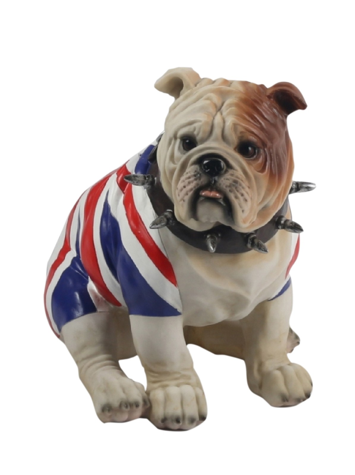 Bulldog Sitting (Union Jack) 22cm
