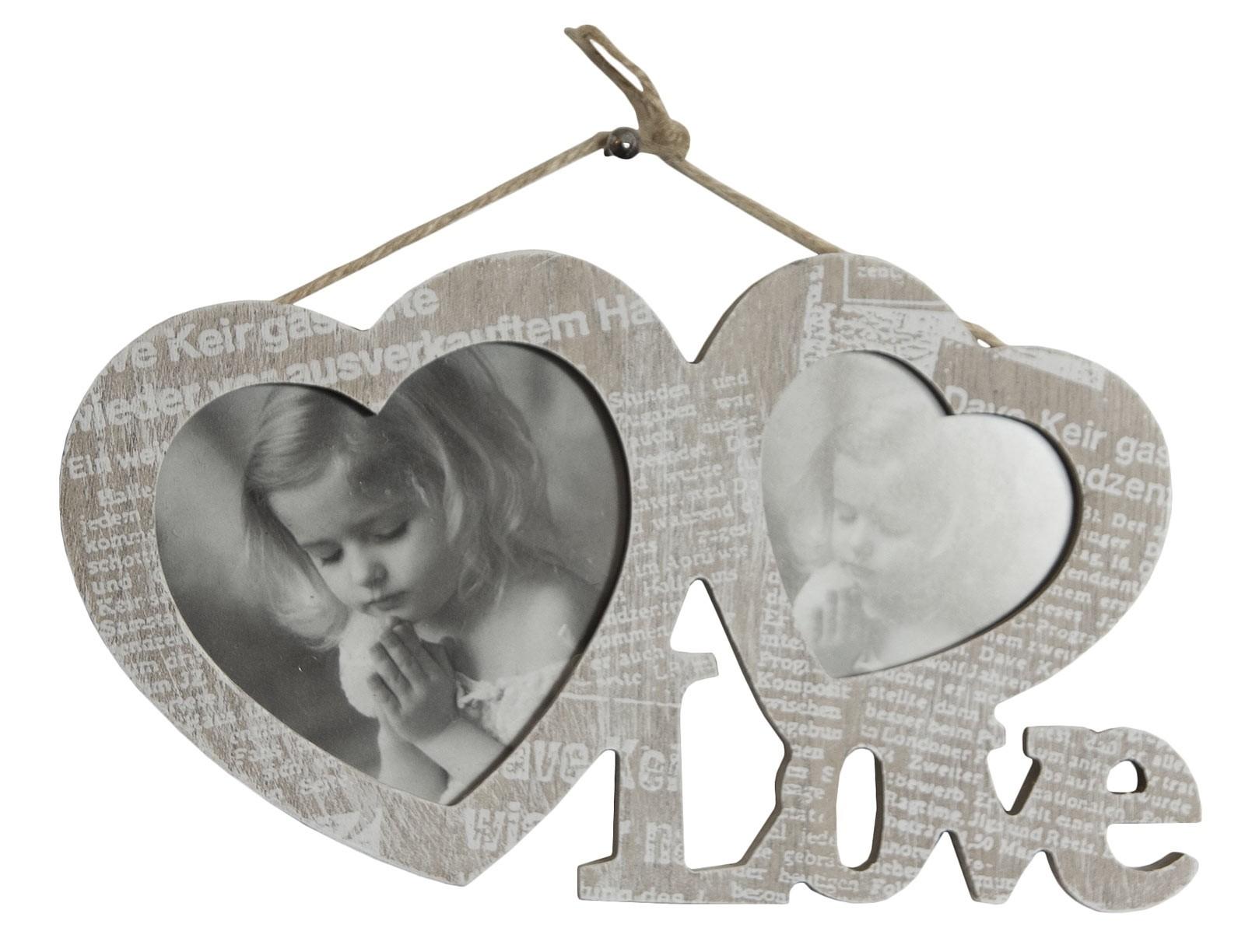 Journal Love Double Photo Frame
